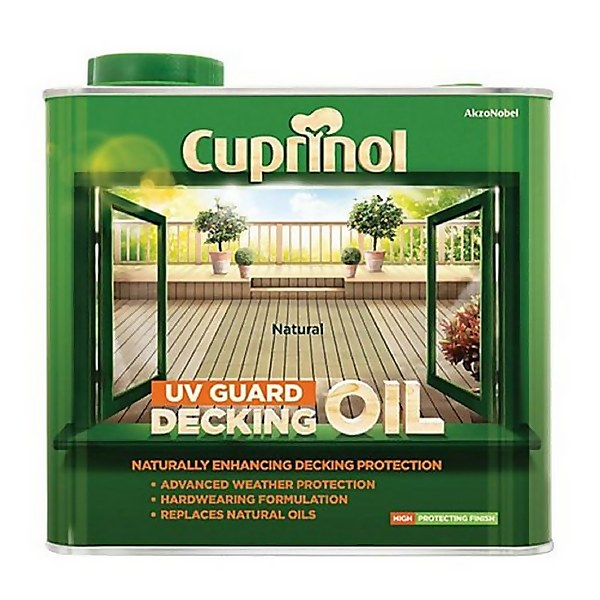 Cuprinol UV Guard Decking Oil - Natural - 2.5L