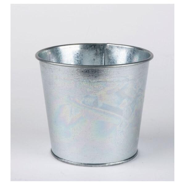 Value Metal Planter in Silver - 14cm