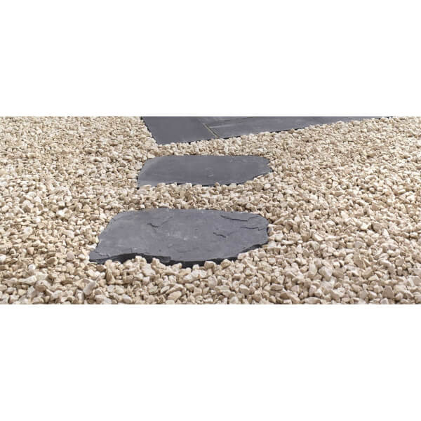 Stylish Stone Natural Random Stepping Stone 600x400mm - Charcoal