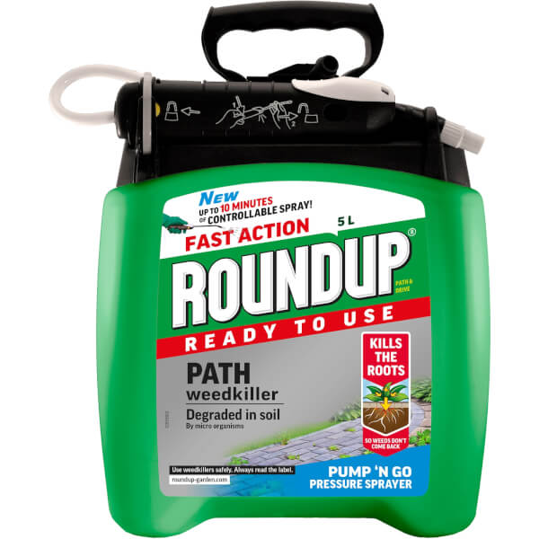 Roundup Path & Drive Ready To Use Pump N Go Weedkiller - 5L