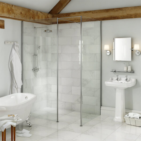 Vincenza White Wall and Floor Tile - 450 x 450mm