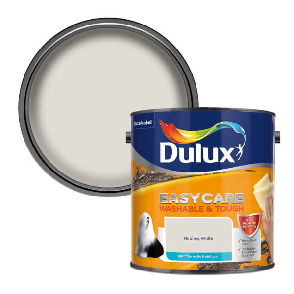 Dulux Easycare Washable & Tough Nutmeg White - Matt - 2.5L