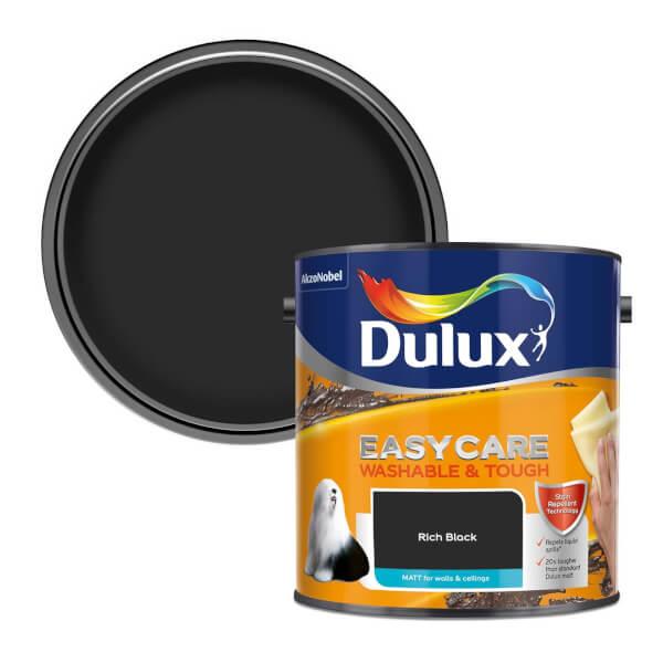 Dulux Easycare Washable & Tough Rich Black - Matt - 2.5L