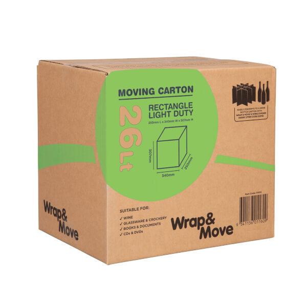 26L Rectangle Moving Carton Light Duty