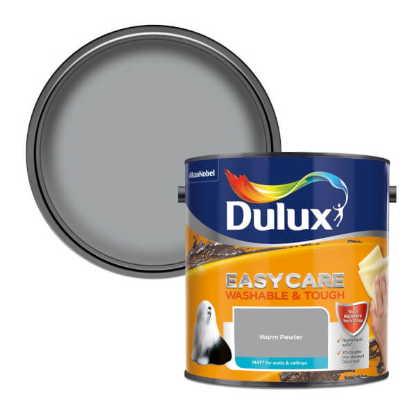 Dulux Easycare Washable & Tough Warm Pewter - Matt - 2.5L