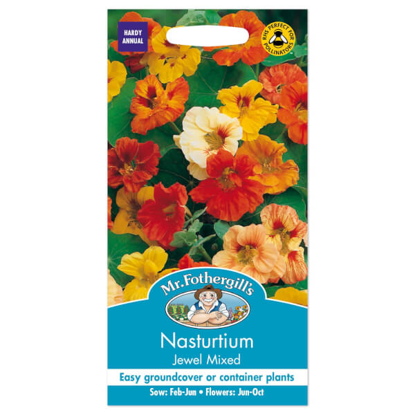 Mr. Fothergill's Nasturtium Jewel Mixed Seeds