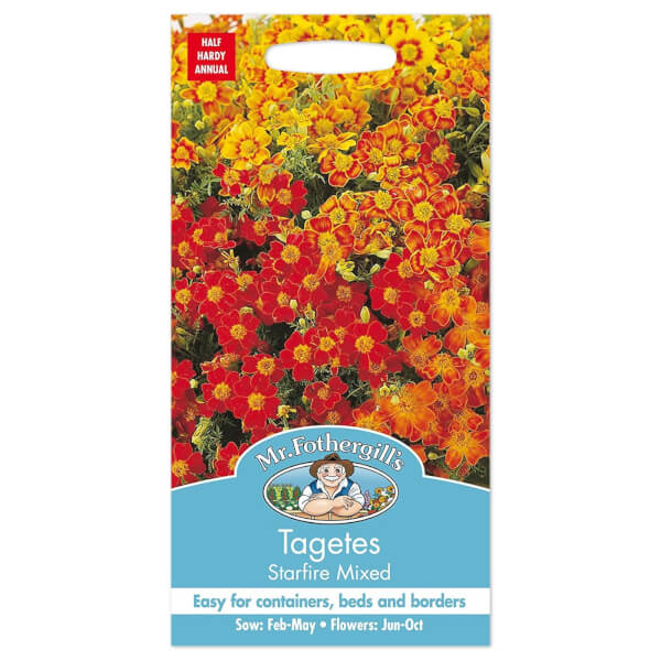 Mr. Fothergill's Tagetes Starfire Mixed Seeds