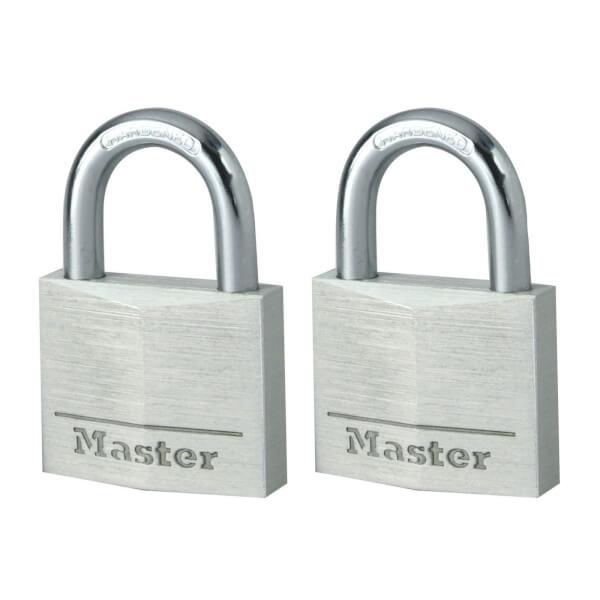 Master Lock Aluminium Padlock - 40mm - Pack of 2