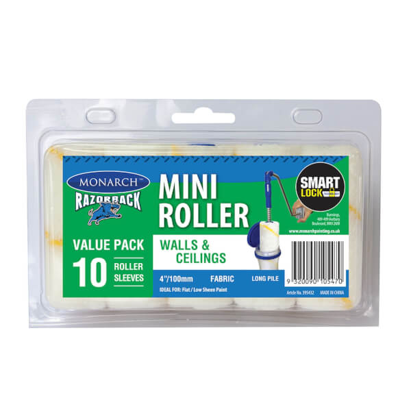Monarch Razorback Mini Roller Refill Fabric - 100mm - 10 Pack