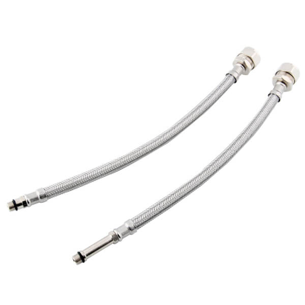 Kinetic Flexible MonoB Tap Connector - 15mm x M10 x 300mm - 2 Pack - WRAS Approved