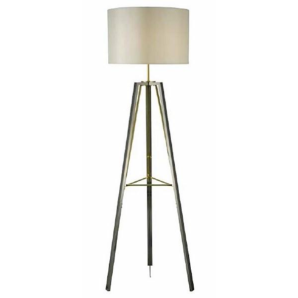 Devo Metal Tripod Floor Lamp - Black Chrome