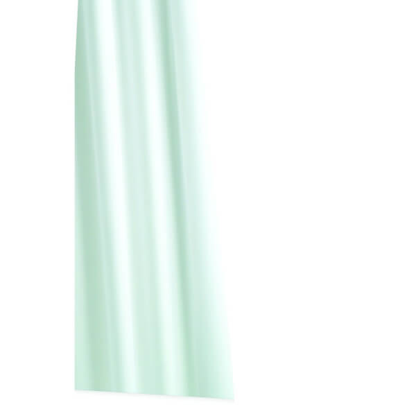 Extra Long Textile Shower Curtain - White