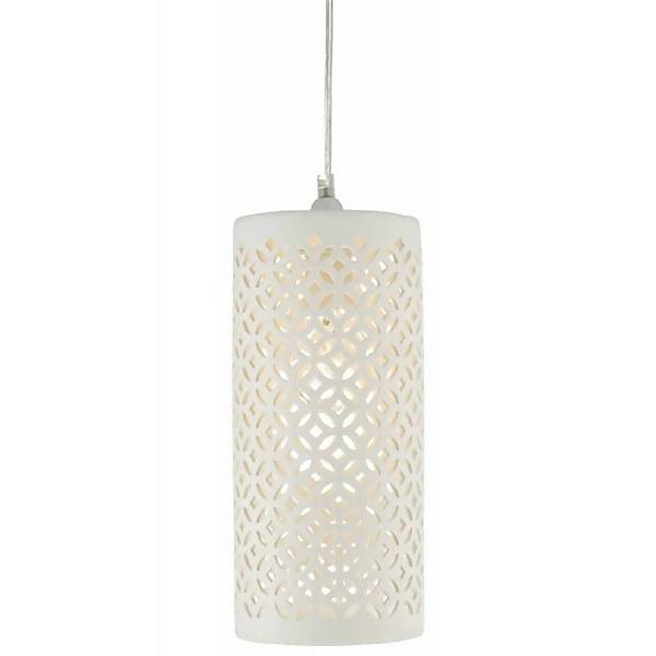 Zama Tile Effect Porcelain Easy Fit Lamp Shade - Cream