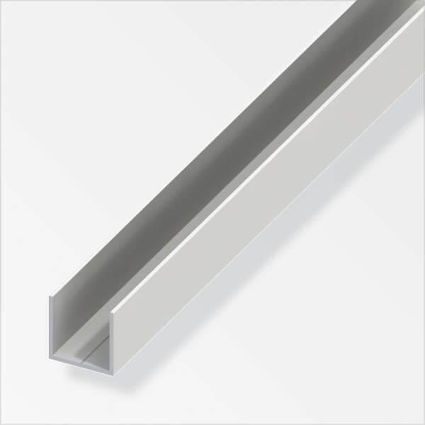 PVC Square U Combitech Profile - 1m x 15.5 x 15.5mm
