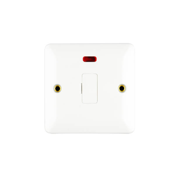 Arlec Slim Line 13A Unswitched Fused Connection Unit with Flex Outlet and Neon Indicator White