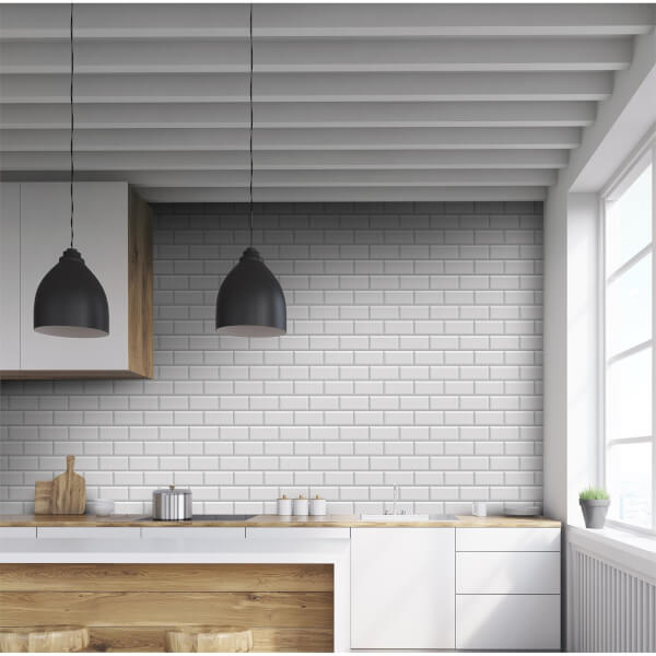 Metro Bevelled Mid Grey Wall Tile - 200 x 100mm