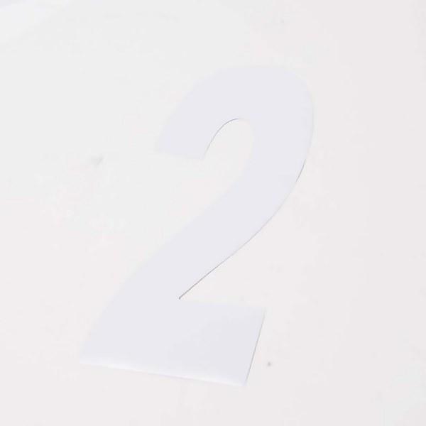 White Wheelie Bin Number - 3