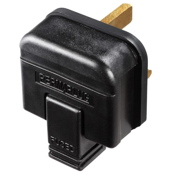 Masterplug 13A Heavy Duty Rewirable Plug Socket Black