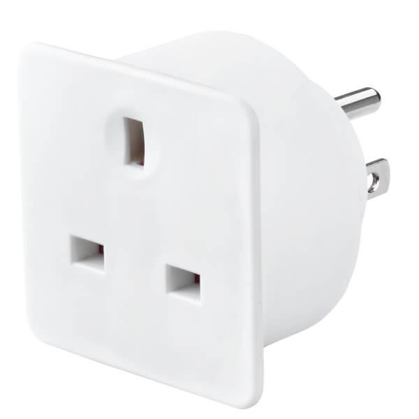 Masterplug UK to US Travel Adaptor White