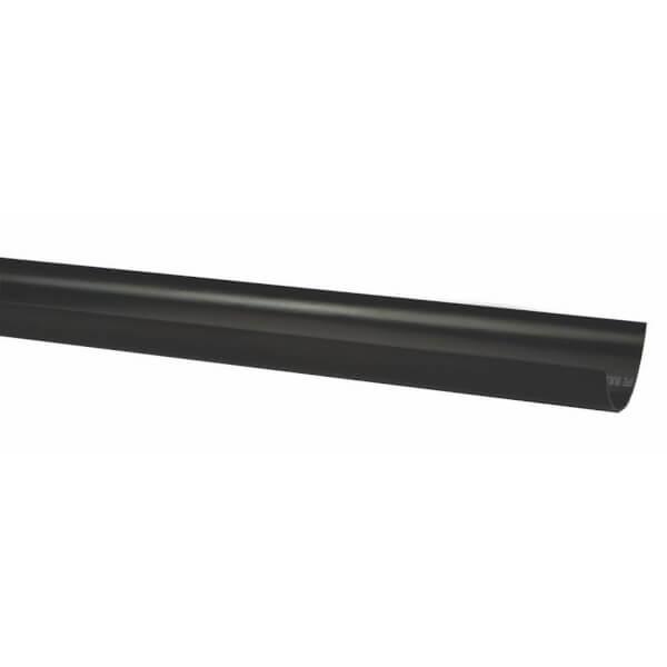 Polypipe Half Round Gutter - 112mm x 2m - Black