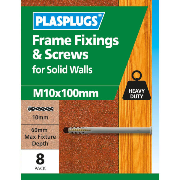 Frame Fixings & Screws M10 x 100mm - 8 Pack