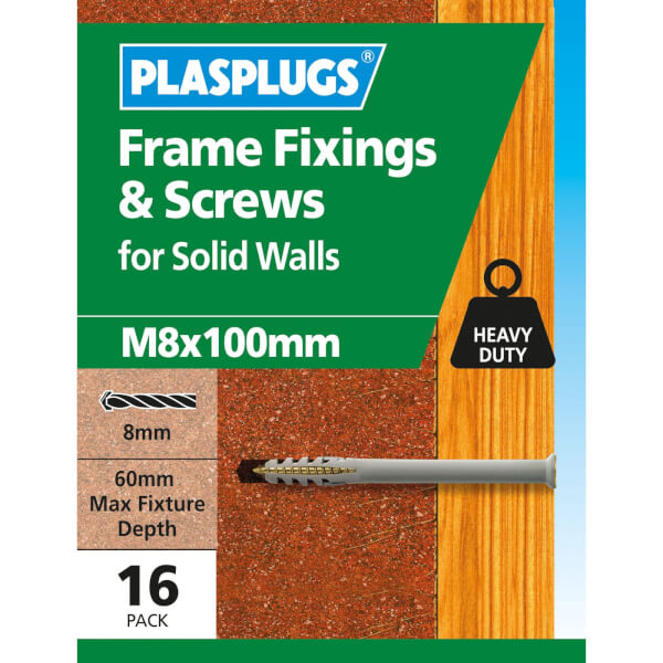 Frame Fixings & Screws M8 x 100mm - 16 Pack