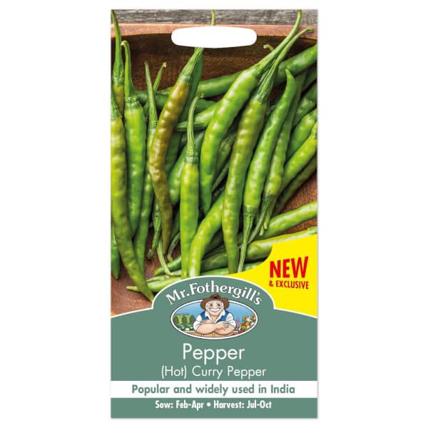Mr. Fothergill's Hot Pepper Curry Pepper F1 Seeds
