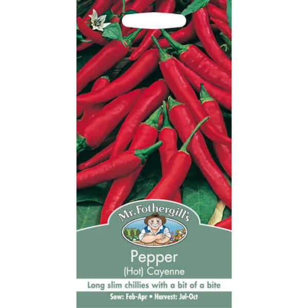 Mr. Fothergill's Hot Pepper Cayenne (Capsicum Annuus) Seeds