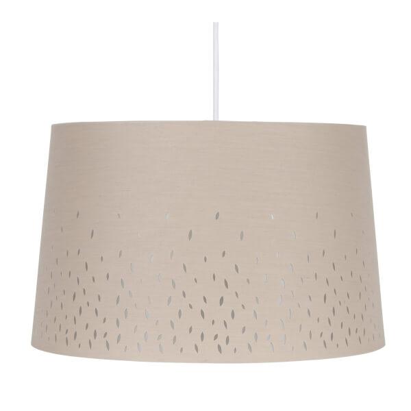 Blossom Laser Cut Lamp Shade - Grey - 40cm