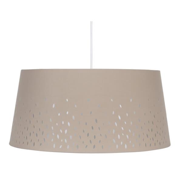 Blossom Laser Cut Lamp Shade - Grey - 50cm