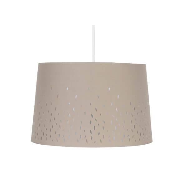 Blossom Laser Cut Lamp Shade - Grey - 35cm