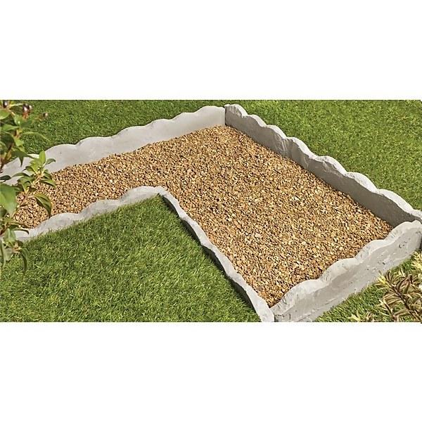 Stylish Stone Natural Stone Scalloped Garden Edging - Lakefell