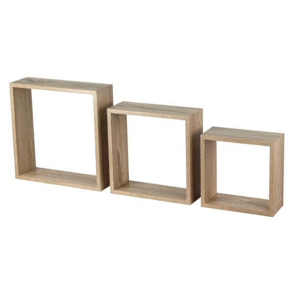 3 Wall Cubes - Sanoma Oak