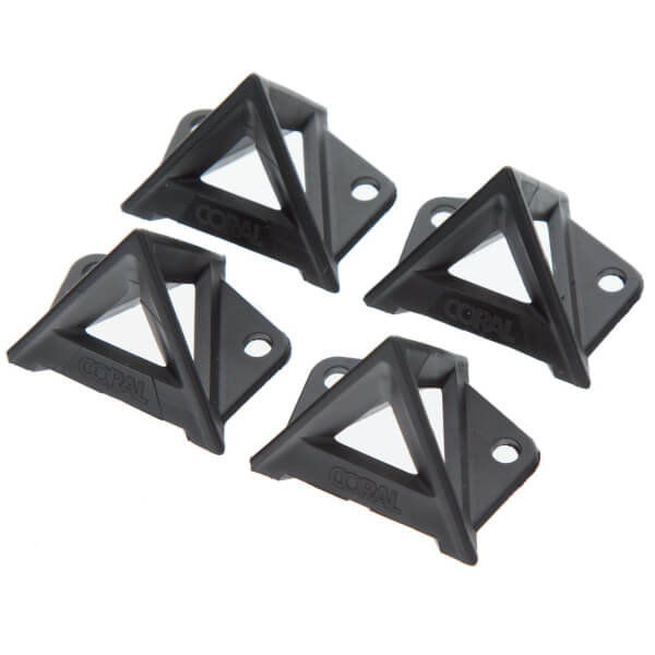 Coral Paint Pyramid Stands 4 Piece