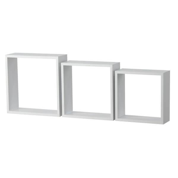 3 Wall Cubes - Matt White
