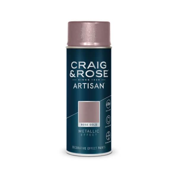 Craig & Rose Artisan Metallic Effect Spray Paint - Rose Gold - 400ml