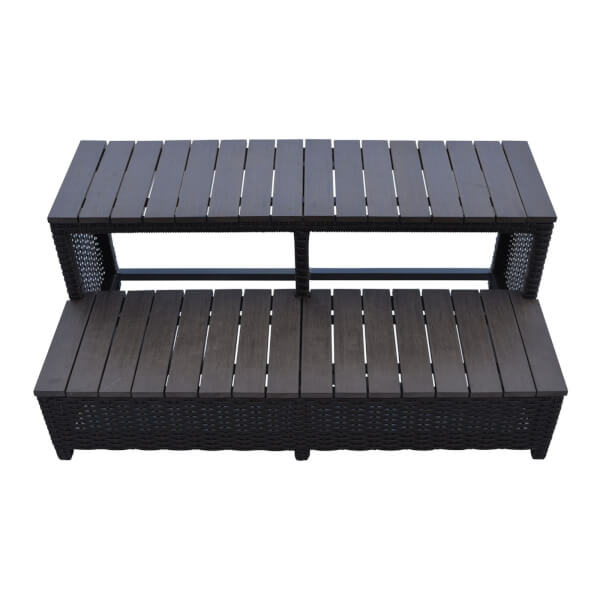 Canadian Spa Rattan Square Spa Step for 86in Hot Tub