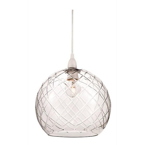 Carina Cut Glass Lamp Shade Homebase, Black Glass Lamp Shades