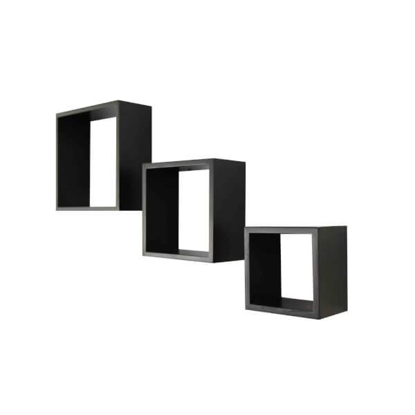 Wall Cubes 3 Pack - Black Matt