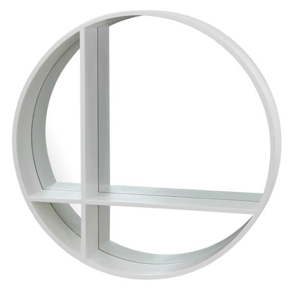 Round Cross Shelf White 29.53x29.53x4