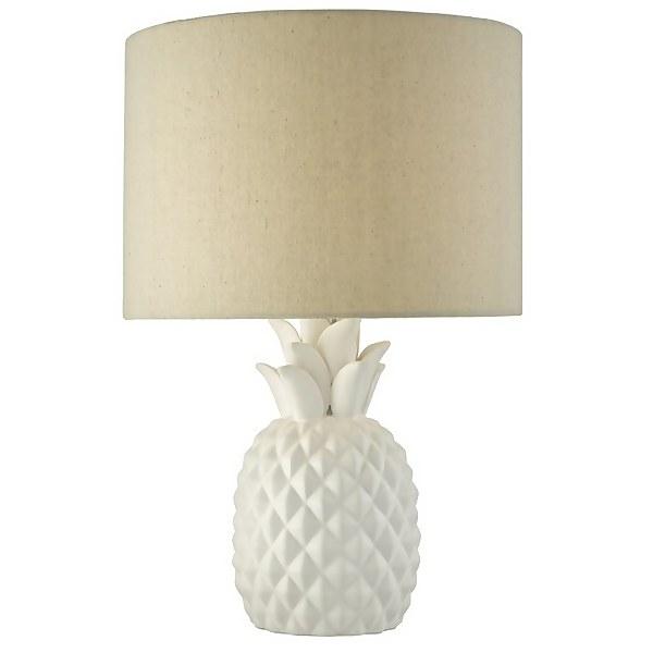 Pineapple Porcelain Table Lamp - White