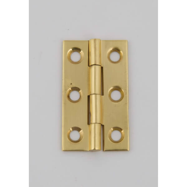 Hafele Solid Drawn Butt Hinge - Polished Brass - 38 x 22mm - 2 Pack