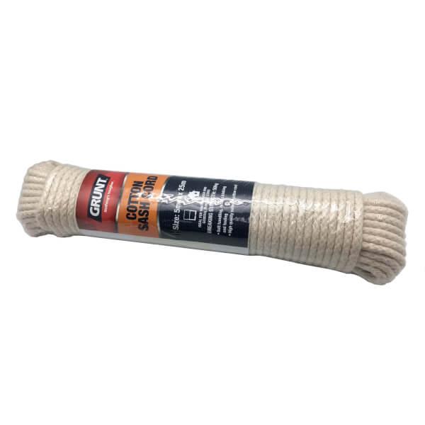Grunt Cotton Sash Cord 5mm x 25m