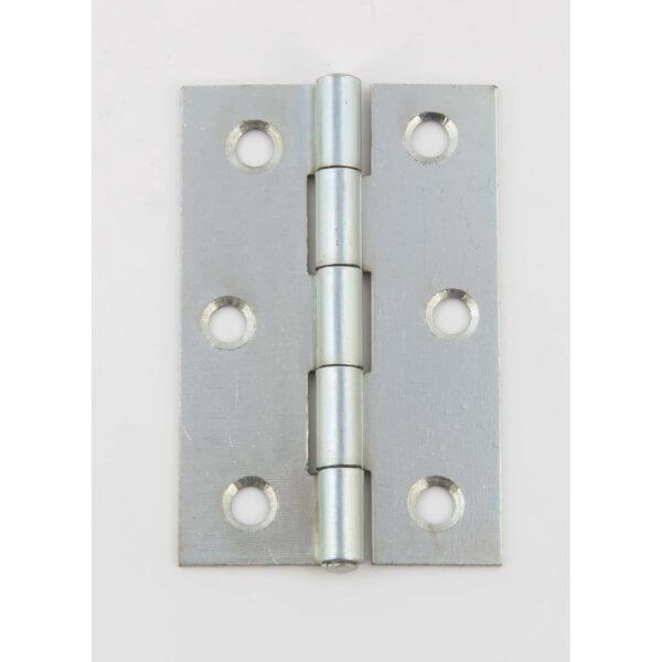Hafele Butt Hinge - Bright Zinc Plated - 75 x 49mm - 6 Pack