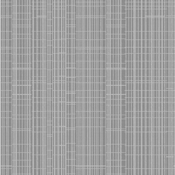 Holden Decor Grid Sequin Geometric Embossed Metallic Grey Wallpaper