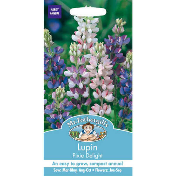 Mr. Fothergill's Lupin Pixie Delight (Lupinus Nanus) Seeds