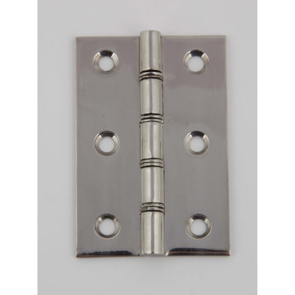 Hafele Steel Washered Butt Hinge - Polished Stainless Steel - 75 x 51mm - 2 Pack