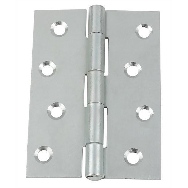 Hafele Butt Hinge - Bright Zinc Plated - 100 x 71mm - 10 Pack