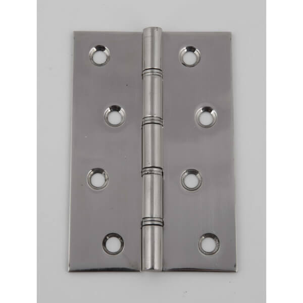 Hafele Butt Hinge - Double Steel Washered - Polished Stainless Steel - 100 x 67mm - 2 Pack