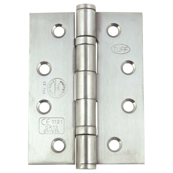 Hafele Grade 13 Butt Hinge - Satin Stainless Steel - 4 x 3inch - 3 Pack